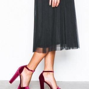 Nly Shoes Platform Heel Sandal Sandaalit Berry