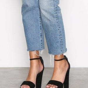 Nly Shoes Platform Heel Sandal Sandaalit Musta
