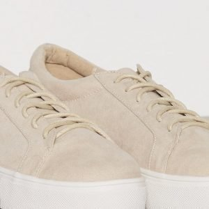 Nly Shoes Platform Sneaker Tennarit Beige
