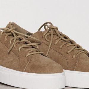 Nly Shoes Platform Sneaker Tennarit Khaki