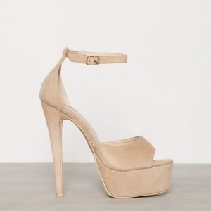 Nly Shoes Platform Stiletto Sandal Sandaletit Beige