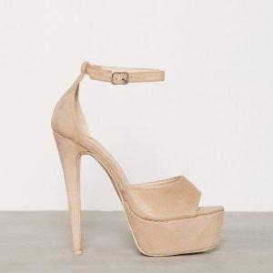 Nly Shoes Platform Stiletto Sandal Sandaletit Beige