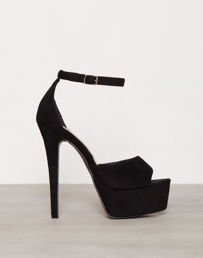 Nly Shoes Platform Stiletto Sandal Sandaletit Musta