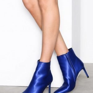 Nly Shoes Pointy Boot Bootsit Satin Sky