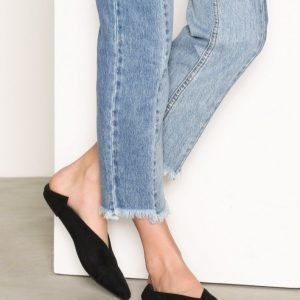 Nly Shoes Pointy Flat Ballerinat Musta