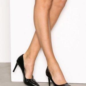 Nly Shoes Pointy Stiletto Pump Korkokengät Black Patent
