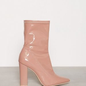 Nly Shoes Pointy Stretchy Boot Bootsit Dusty Pink