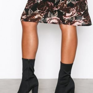 Nly Shoes Pointy Stretchy Boot Saappaat Musta