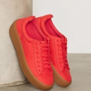 Nly Shoes Rubber Sole Sneaker Tennarit Raspberry
