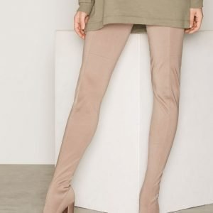 Nly Shoes Shiny Super Thigh High Boot Ylipolvensaappaat Nougat