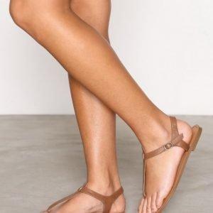Nly Shoes Simple Sandal Sandaalit Ruskea
