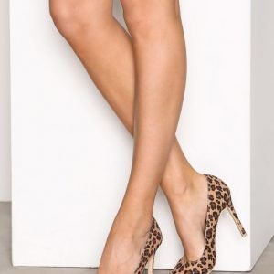 Nly Shoes Slim Pump Korkokengät Leopard