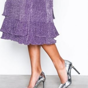 Nly Shoes Slim Pump Korkokengät Metallic Silver