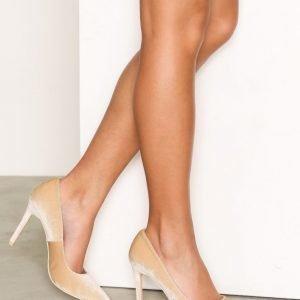 Nly Shoes Slim Pump Korkokengät Velvet Beige