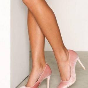 Nly Shoes Slim Pump Korkokengät Velvet Rose