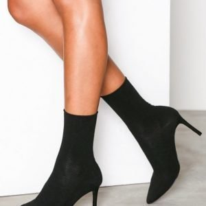 Nly Shoes Slim Sock Boot Korkokengät Musta