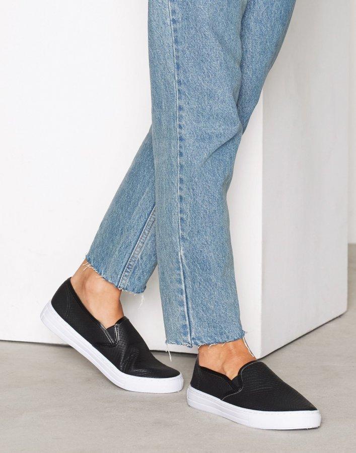 Nly Shoes Slip In Sneaker Slip-On Kengät Musta