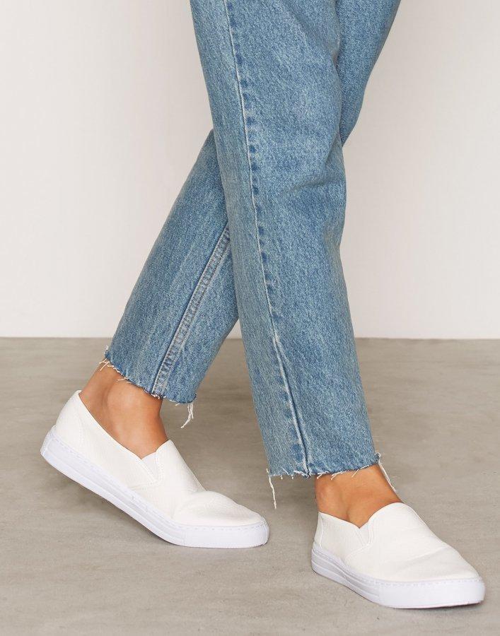 Nly Shoes Slip In Sneaker Slip-On Kengät Valkoinen