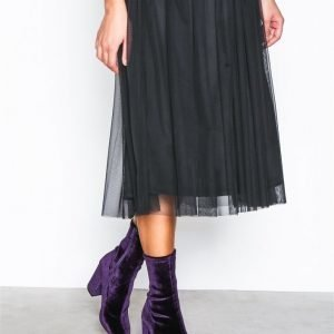 Nly Shoes Stretchy Block Boot Bootsit Violetti