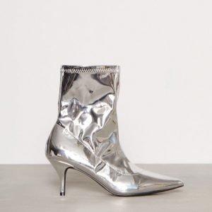 Nly Shoes Stretchy Boot Korkokengät Hopea