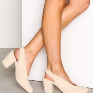 Nly Shoes Teddy Pump Korkokengät Offwhite
