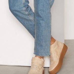 Nly Shoes Varsitennarit Flatform Sneaker Varsitennarit Beige Mist