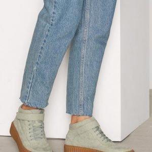 Nly Shoes Varsitennarit Flatform Sneaker Varsitennarit Green Tea