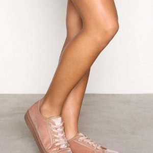 Nly Shoes Velvet Sneaker Tennarit Dusty Pink