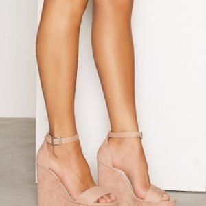 Nly Shoes Wedge Sandal Sandaalit Dusty Pink
