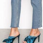 Nly Shoes Wrap Mule Satiinikengät Emerald Green