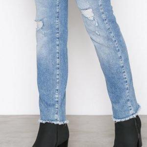 Nly Shoes Zip Heel Boot Bootsit Musta