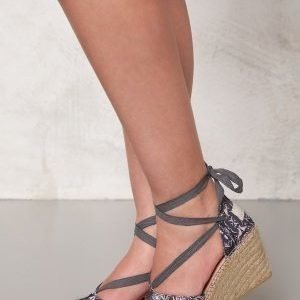 Odd Molly Printed Espadrillos Almost Black