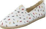 Paez Raw White Multicolor Birds