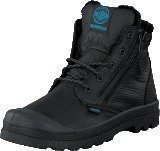 Palladium Pampa Hi Cuff WPS Kids Black