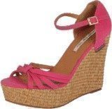 Pepe Jeans Cotton Fabric Raffia Hi Wedge