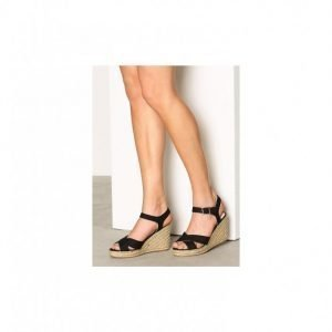 Pieces Pshalloumi Espadrillos Cross Black Sandaletit Musta