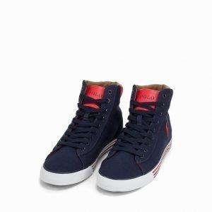 Polo Ralph Lauren Harvey Mid Sneaker Tennarit Navy/Red