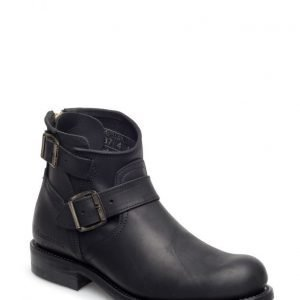 Primeboots Engineer Zip Low-103 Old Crazy Black 36