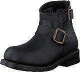 Primeboots Engineer Zip Low Black Brass
