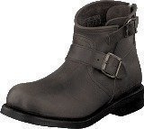 Primeboots Engineer Zip Low Dark Grey Nikel