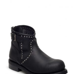 Primeboots Engineer Zip Low Studs-737 Old Crazy Black 36