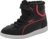 Puma First Round Fur V Kids Blk/Pink