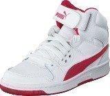 Puma Puma Rebound Street L Jr White-Rose Red