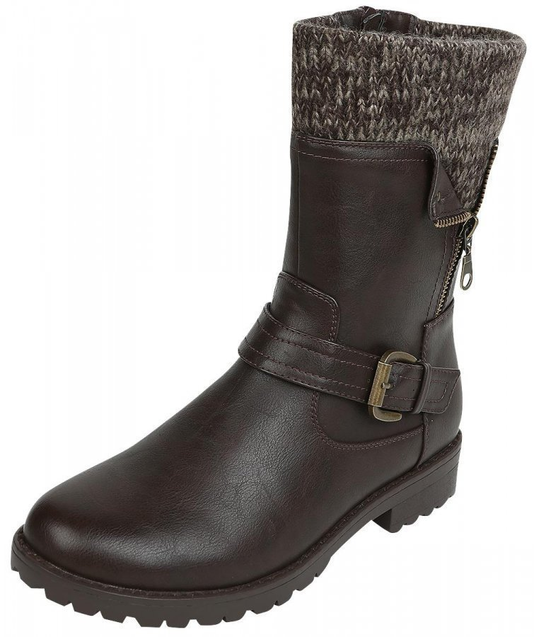 R.E.D. by EMP Knitted Strap Boot Varsikengät