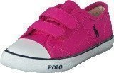 Ralph Lauren Junior Daymond Ez Regatta Pink Canvas - Navy