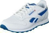 Reebok Classic Cl Leather Reflect White/Blue Sport/Silver Met
