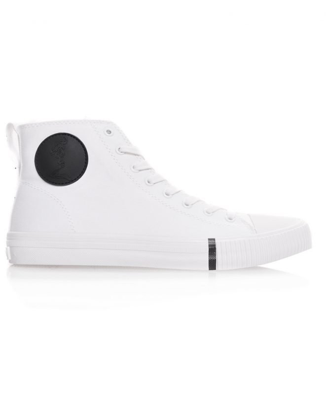Religion Skeleton Highrise Sneaker White