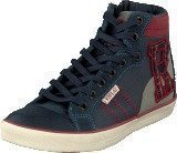 Replay New Collage Wear Inverness Navy Red