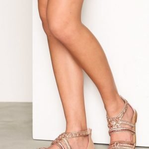 River Island Embellished Multi Strap Sandals Sandaalit Rose Gold
