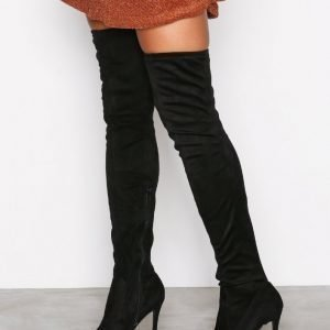 River Island Over Knee Boots Ylipolvensaappaat Black